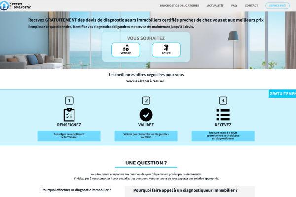 homepage de prestadiagnostic.com